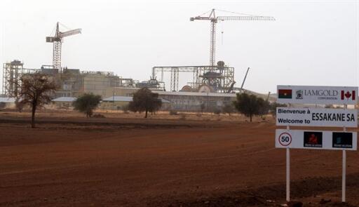 La mine d'or d'Essakane au Burkina Faso.