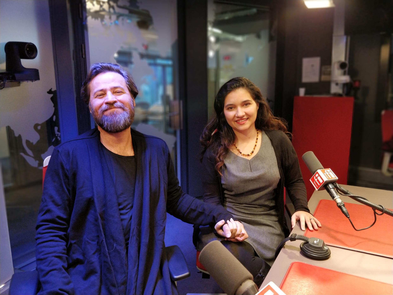 O professor André Meyer e a pesquisadora Eloa Chaignet