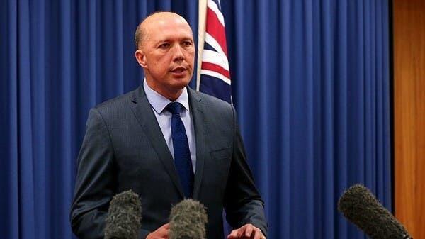 澳大利亞國防部長彼得·達頓資料圖片