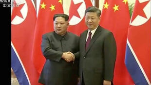 North Korea's leader Kim Jong-Un holds talks with China's President Xi Jinping in Beijing.