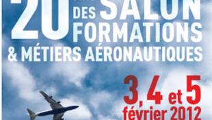 Extrait de l'affiche du 20e salon des formations et métiers de l'aéronautique.