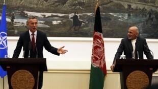 کنفرانس خبری دبیر کل ناتو و  اشرف غنی در کابل - ٦ نوامبر ٢٠١٤