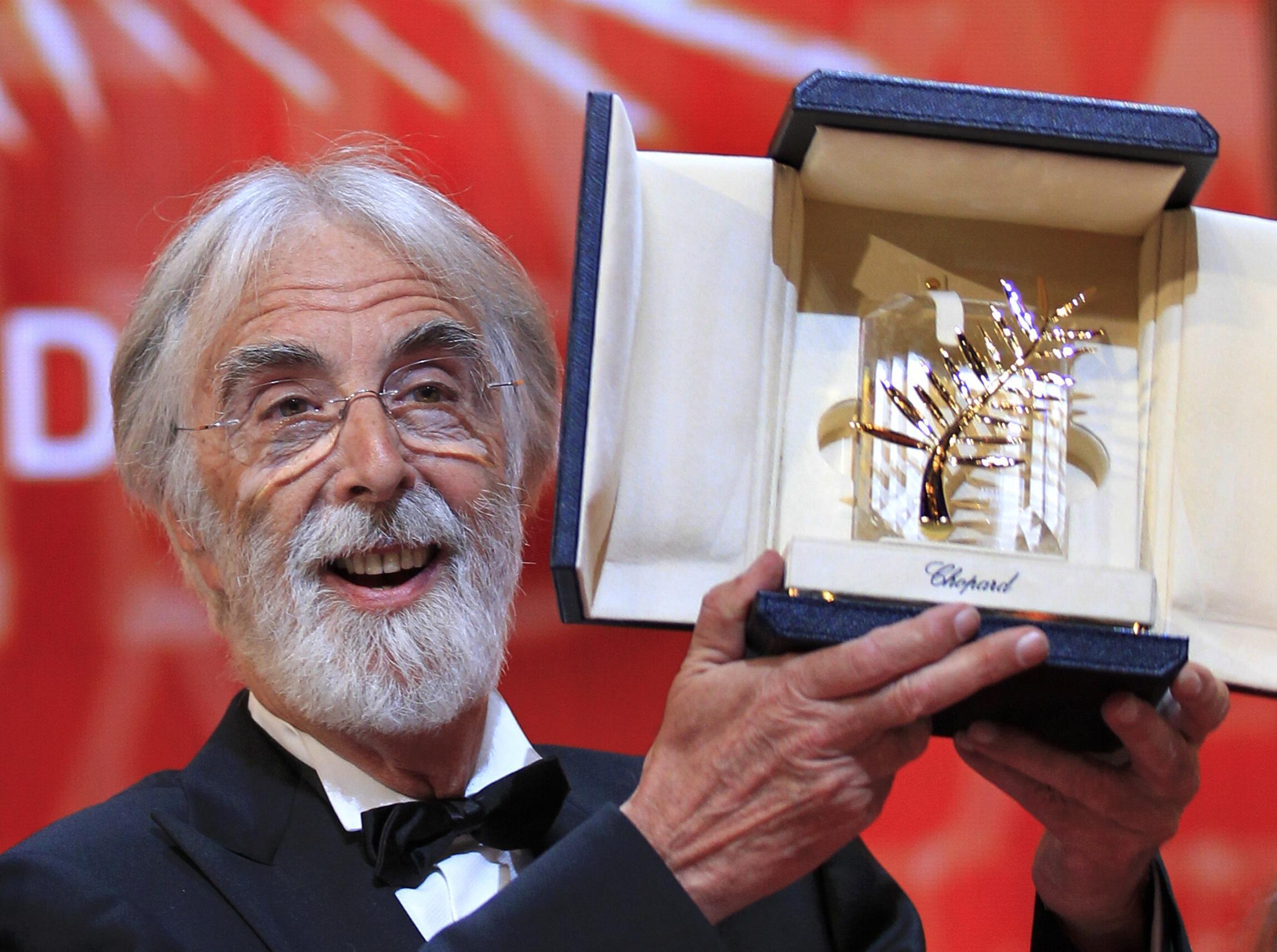 """O diretor austríaco Michael Haneke levou a Palma de Ouro com o filme """"Amour"""", em 2012."""