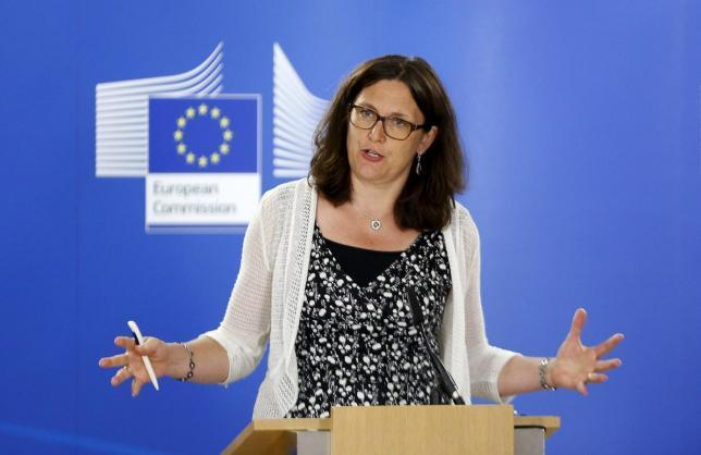 Ủy viên thương mại châu Âu Cecilia Malmstrom.