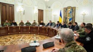Заседание Совета национальной безопасности и обороны Украины прошло поздно вечером в воскресенье, 25 ноября