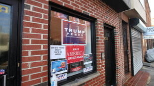 Trump campaign office in South street, Philadelphia, Pennsylvania