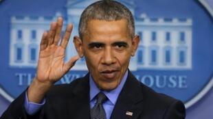Le président américain Barack Obama, à la Maison Blanche, le 18 décembre 2015.