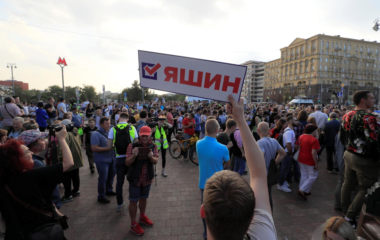 Phe đối lập Nga biểu tình trên đường phố Matxcơva ngày 31/08/2019 đòi bầu cử tự do.