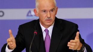 Waziri mkuu wa Ugiriki George Papandreou.
