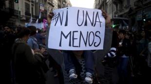 Depuis 2010, l'Argentine a connu 250 féminicides par an. Ici la manifestation du 3 juin 2015 à Buenos Aires.