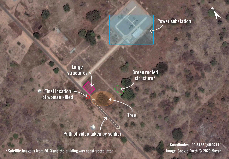 Mozambique Cabo Delgado killing Amnesty Satellite image  Moçambique