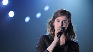 Heloïse Letissier, de son nom de scène, Christine and The Queens au Printemps de Bourges, le 23 avril 2014.
