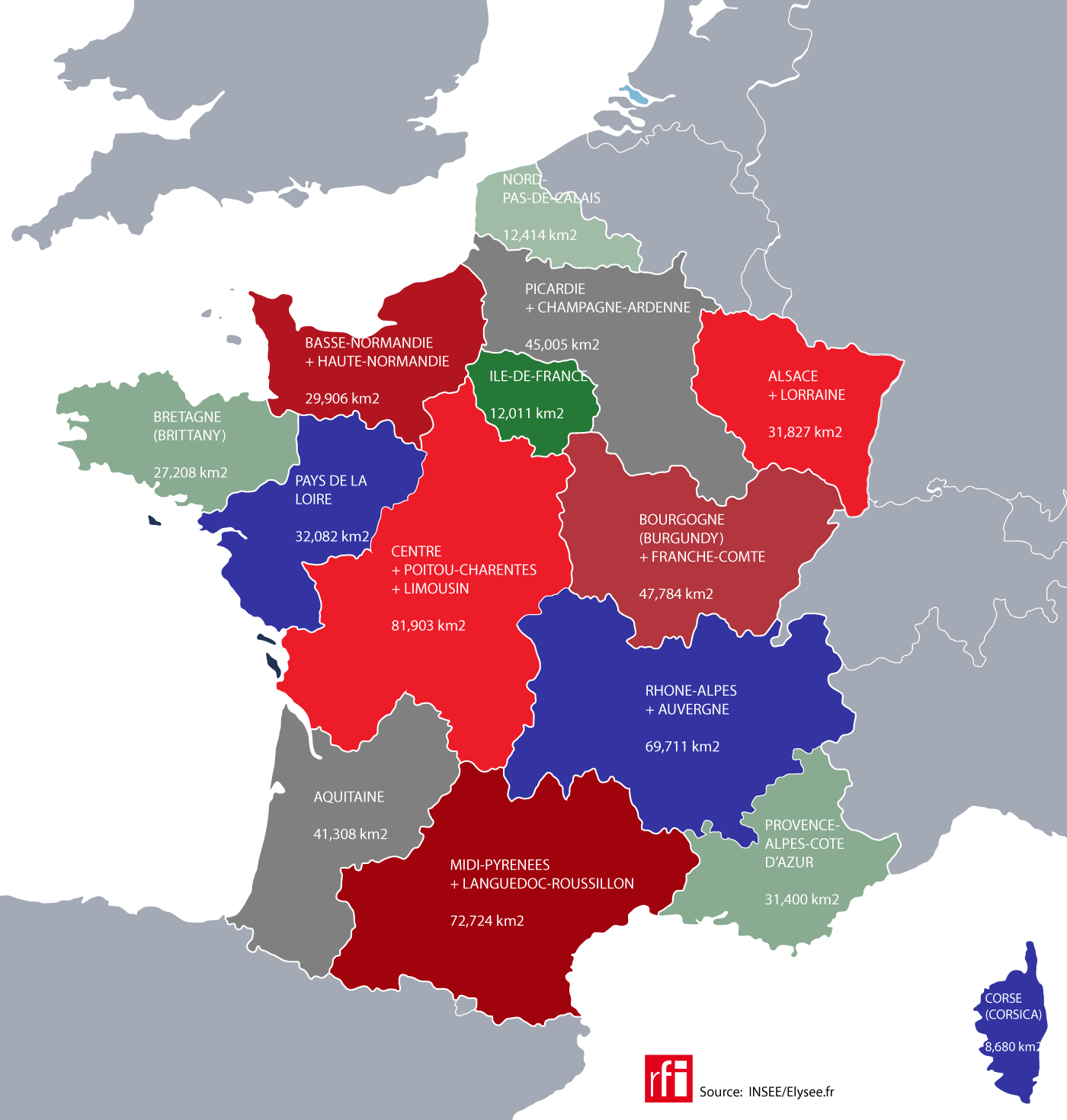 The new French regions