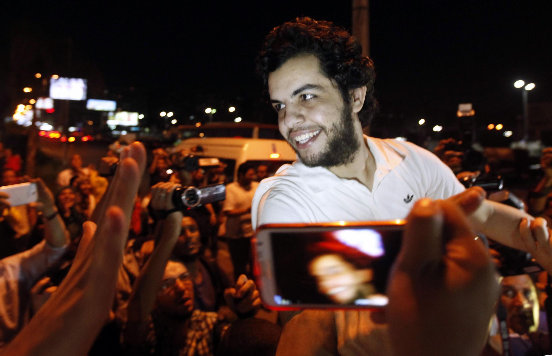 Abdullah Elshamy, a tsakiyar magoya bayansa ji kadan bayan da aka sako shi
