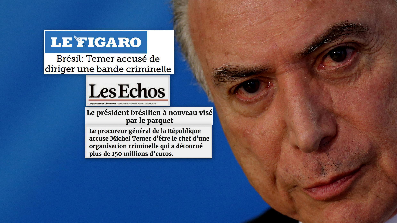 O diário econômico Les Echos e Le Figaro abordam em suas edições desta segunda-feira (18) as novas denúncias da Procuradoria-Geral da República contra o presidente Michel Temer.
