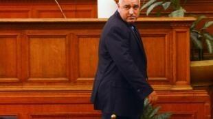 Ông Borisov sau bài phát biểu tại Quốc hội, 20/02/2013.