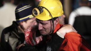 Un sobreviviente del accidente de la mina de carbón de Soma Komur, en el oeste de Turquía, 12 mai de mayo de 2014.