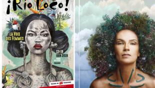 """Affiche Rio Loco 2019 (Rio Loco) et Oum """"Daba"""" (MDC)."""