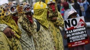 Hubo muchas manifestaciones contra la apertura de Pemex a los capitales privados.