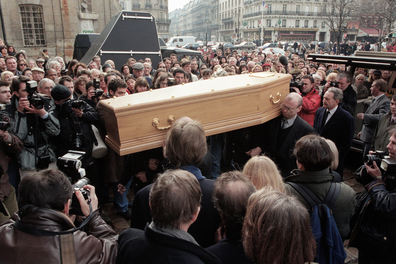 تشییع جنازه مارگریت دوراس، پاریس، ۷ مارس ۱۹۹۶