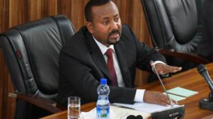 El primer ministro etíope, Abiy Ahmed, el 3 de febrero de 2020 en Adís Abeba