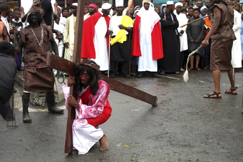 Célébration des fêtes de Pâques par les fidèles à Lagos, le vendredi Saint. Photo datée de 2012.