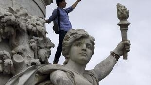 Студенты на площади Нации, Париж 29 мая 2014 года