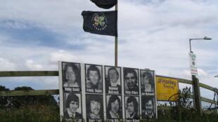 Hommage aux prisonniers irlandais, grévistes de la faim, en 1981.