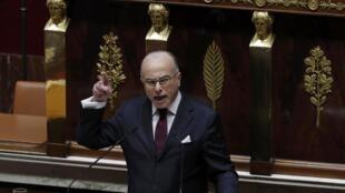 French Prime Minister Bernard Cazeneuve addresses the National Assembly on Tuesday