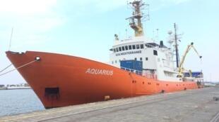 The Search and Rescue ship the MV Aquarius