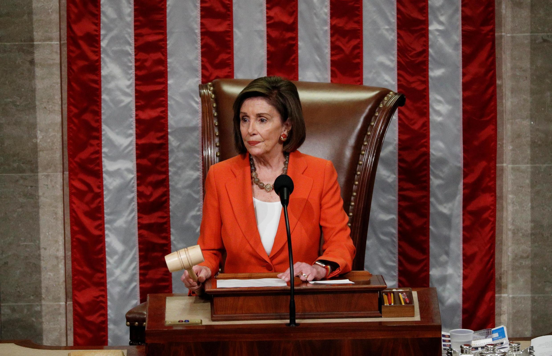 Chủ tịch Hạ Viện Mỹ Nancy Pelosi, tại Washington, Mỹ, ngày 31/10/2019.