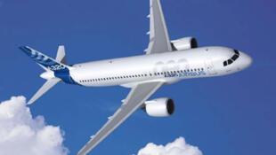 Dibujo digital del Airbus A320 Neo