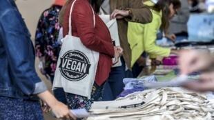 O Festival Vegano organizado pela associação francesa Farplace, em Calais, em 8 de setembro de 2018.