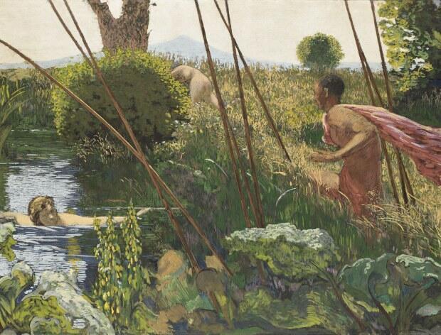 """""""بعداز ظهر یک جانور"""" اثر """"کِر اگزاویه روسل"""" نقاش فرانسوی قرن نوزده و بیست"""