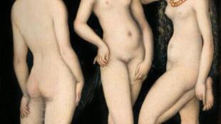 """""""Las tres Gracias"""" de Lucas Cranach"""