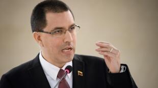 """El canciller de Venezuela Jorge Arreaza calificó de """"vulgar despojo"""" por parte de EEUU, que transfirió USD 342 millones de fondos que el Banco Cerntral de Venezuela tenía en una entidad privada de EEUU a la Fed de Nueva York"""