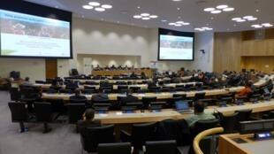 Sala plenária da 14ª edição do Congresso Florestal Mundial em Durban, na África do Sul.