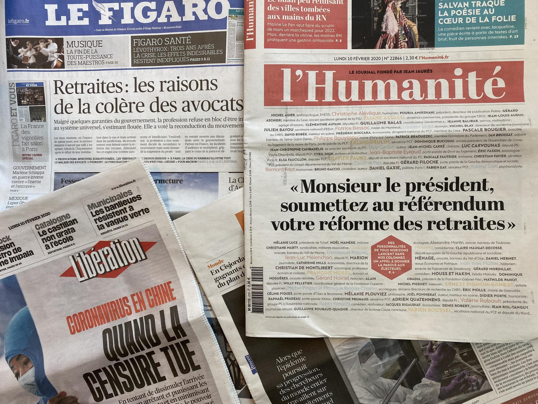 Primeiras páginas dos jornais franceses desta segunda-feira.