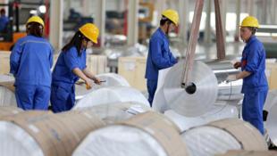 La Chine est le principal producteur d'acier et d'aluminium dans le monde. Photo : une usine de production d'aluminium à Huaibei, en Chine.