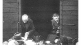 A photo taken in 1942 of Jews being taken by train from Drancy to concentration camps in Germany