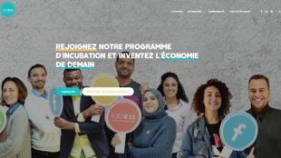 La page d'accueil de la start-up Lab'ess.