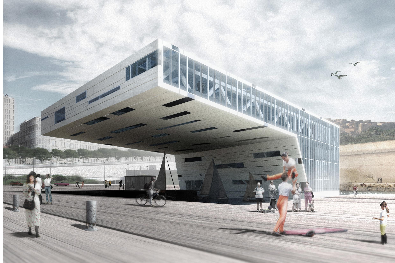 """La nueva """"Villa Méditerranée"""" será inaugurada este año en Marseille. Se trata de un espacio cultural abierto hacia el mar."""