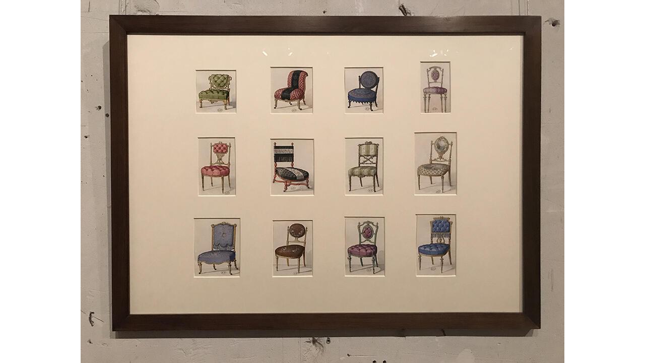 Эмилио Терри. Эскизы моделей стульев и кресел. 1965