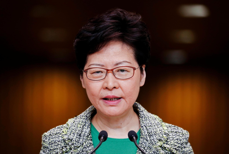 Bà Lâm Trịnh Nguyệt Nga trong cuộc họp báo tại Hồng Kông ngày 24/09/2019.
