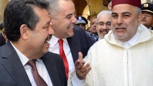 Le Premier ministre marocain, Abdelilah Benkirane (D) et le maire de Fes et chef de l'Istiqlal, Hamid Chabat (G) en février 2013.
