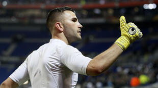 Lyon goalkeeper Anthony Lopes was among the players involved in angry exchanges with Bastia fans and officials.