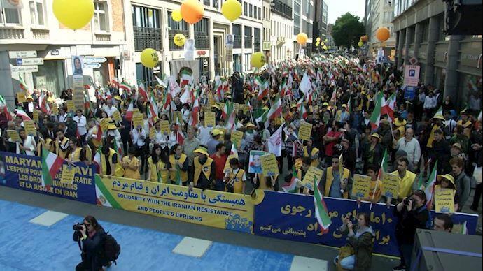 تظاهرات هواداران سازمان مجاهدین خلق در بروکسل. شنبه ۲۵ خرداد/ ١۵ ژوئن ٢٠۱٩