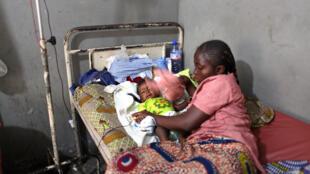 Sick baby in DRC