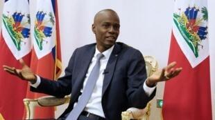 """Jovenel Moise"" Haiti jamana kuntigi."