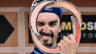 Julian Alaphilippe, lors de sa victoire à Milan-San Remo, le 23 mars 2019.